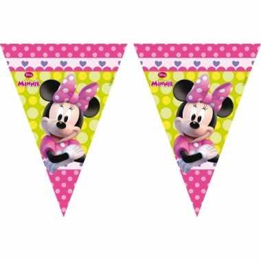 Feestversiering vlaggenlijn minnie mouse 3 meter- feestje!