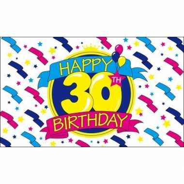 Wonderbaar Feestvlag happy birthday 30- feestje!   Jokesfeestwinkel.nl WM-66