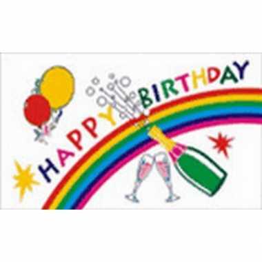 Feestvlag happy birthday feestje