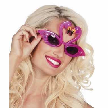 Flamingo feest zonnebril voor volwassenen- feestje!