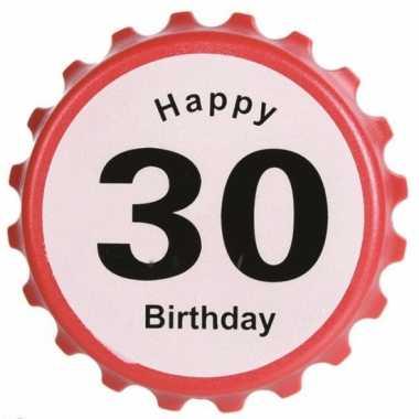 Flessenopener 30 jaar feestartikelen leeftijd- feestje!