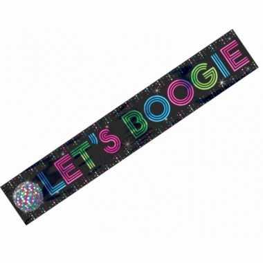 Folie banner lets boogie disco feest- feestje!