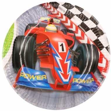 Formule 1 kinderfeest bordjes 12x stuks- feestje!