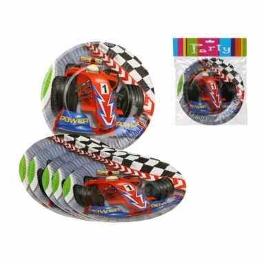 Formule 1 kinderfeest bordjes 6x stuks- feestje!