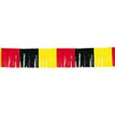 Franje feestslingers zwart-geel-roodfeestje!