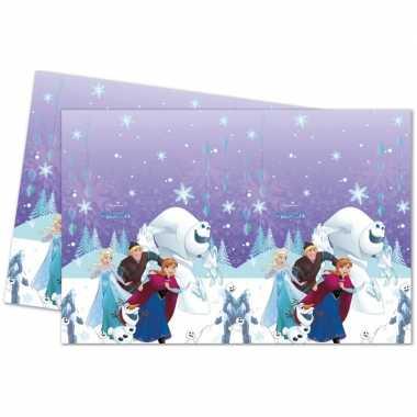 Frozen blauw/paars themafeest tafelkleed 120 x 180 cm- feestje!