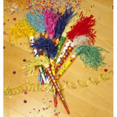 Gekleurde feest toeter 35 cm feestje