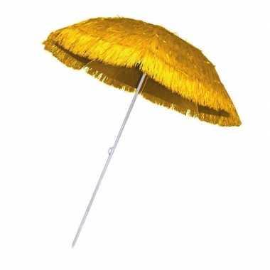 Gele parasol voor een hawaii feest- feestje!