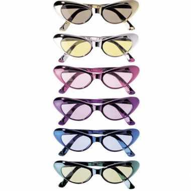 Glimmende feestbrillen ovaal feestje
