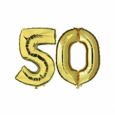 Gouden 50 jaar ballonnen feestversiering- feestje!