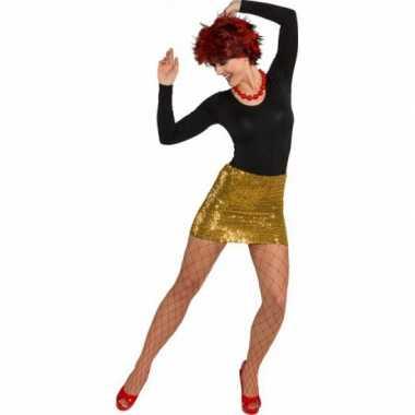 Gouden feestkleding dames rokje- feestje!
