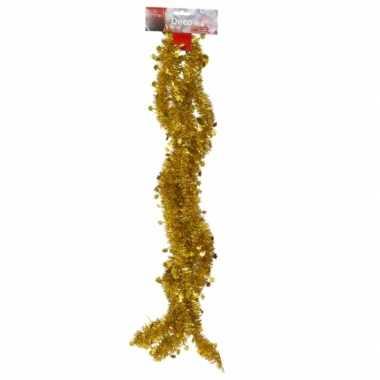 Gouden tinsel feestslinger 270 cm- feestje!