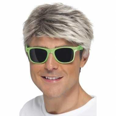 Groene neon feestbril voor volwassenen- feestje!