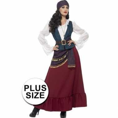 Grote maten feest piraat verkleedoutfit voor dames- feestje!