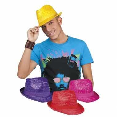 Hawaii feest hoedjes gekleurd- feestje!