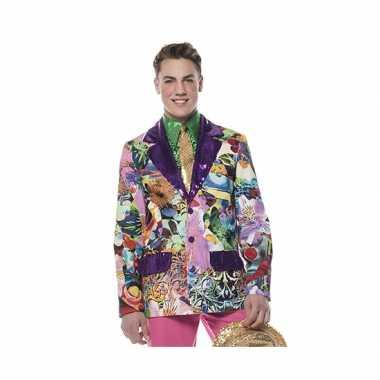 Heren feest colberts paars- feestje!