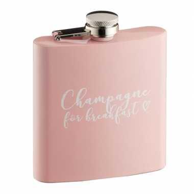 Heupfles champagne for breakfast 170 ml voor vrijgezellenfeestje- fee