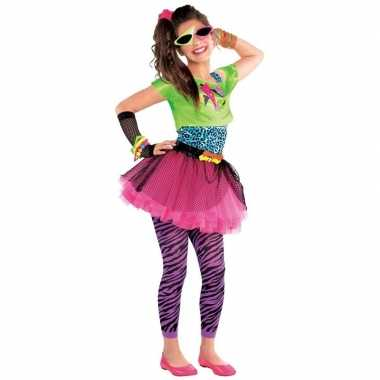 Jaren 80 disco kostuum feestkleding voor meisjes 10-12 jaarfeestje!