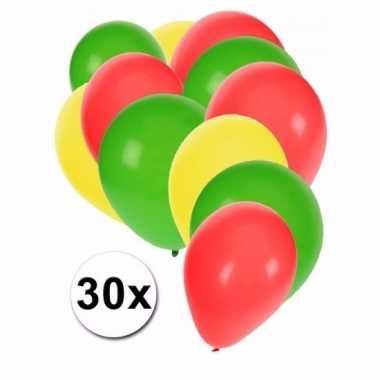 Kameroense feest ballonnen 30 st- feestje!