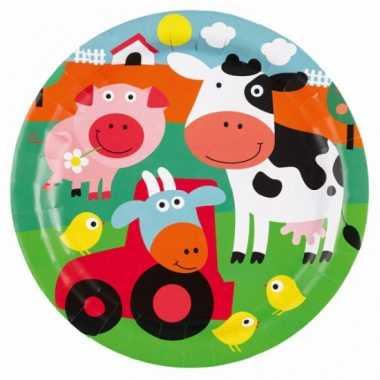 Kinderfeest bordjes boerderij- feestje!