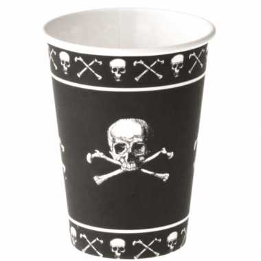 Kinderfeest piraten bekers zwart feestje