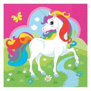 Kinderfeest unicorn servetjes 20 stuks- feestje!