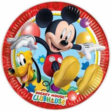 Kinderfeestje bordjes mickey mouse feestje