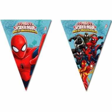 Kinderfeestje spiderman warrior vlaggetjeslijn- feestje!