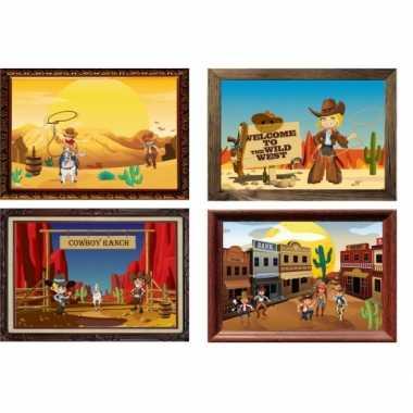 Kinderfeestje western posters feestje