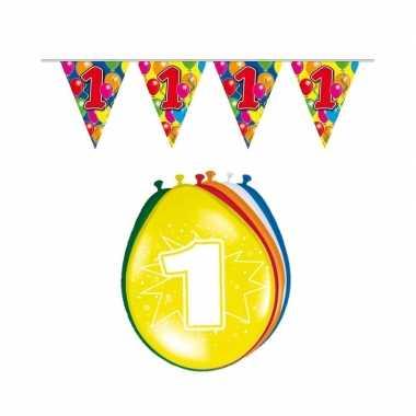 Leeftijd feestartikelen 1 jaar setje- feestje!