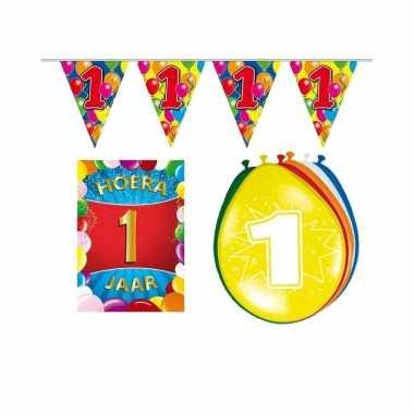 Leeftijd feestartikelen 1 jaar voordeel pakket- feestje!
