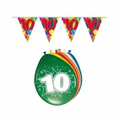 Leeftijd feestartikelen 10 jaar setje- feestje!