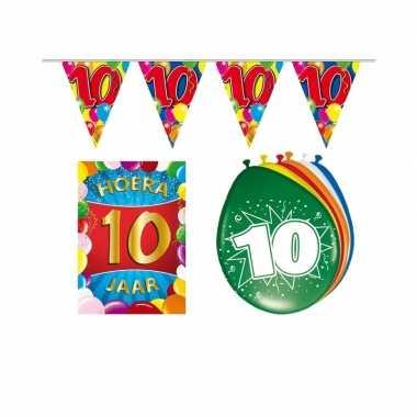 Leeftijd feestartikelen 10 jaar voordeel pakket- feestje!