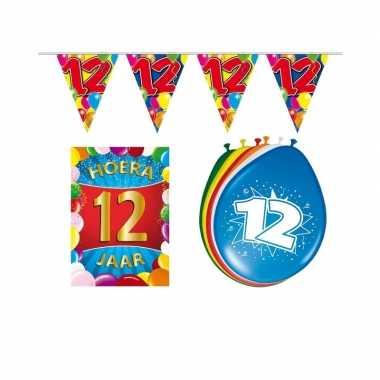 Leeftijd feestartikelen 12 jaar voordeel pakket feestje