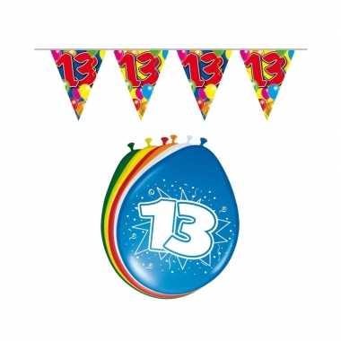 Leeftijd feestartikelen 13 jaar setje feestje