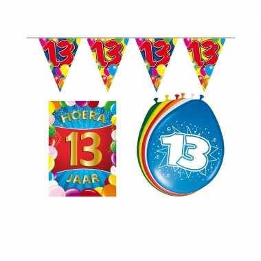 Leeftijd feestartikelen 13 jaar voordeel pakket feestje