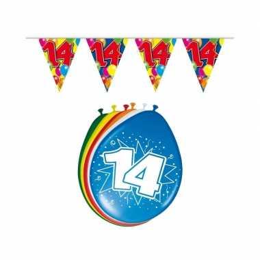Leeftijd feestartikelen 14 jaar setje feestje
