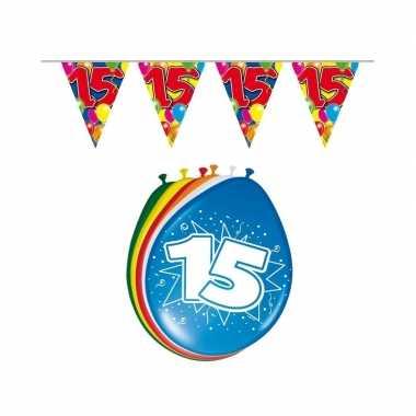 Leeftijd feestartikelen 15 jaar setje- feestje!