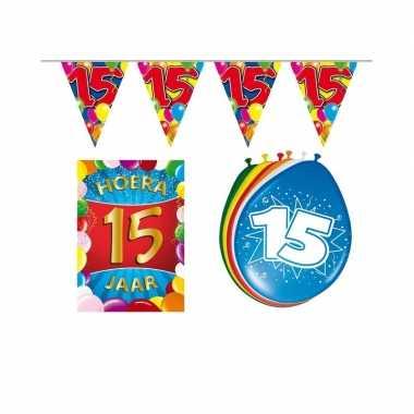 Leeftijd feestartikelen 15 jaar voordeel pakket- feestje!