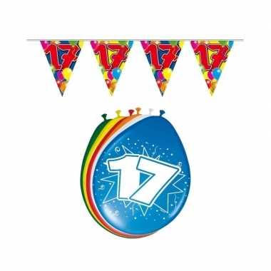 Leeftijd feestartikelen 17 jaar setje feestje