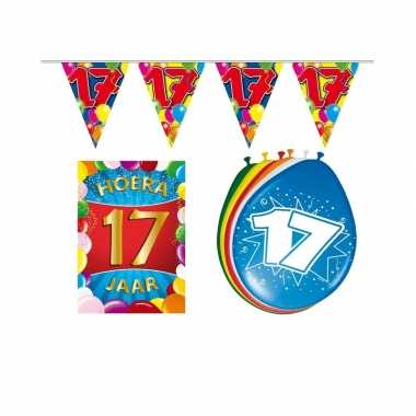 Leeftijd feestartikelen 17 jaar voordeel pakket feestje