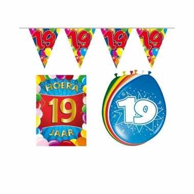 Leeftijd feestartikelen 19 jaar voordeel pakket feestje