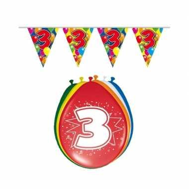 Leeftijd feestartikelen 3 jaar setje- feestje!