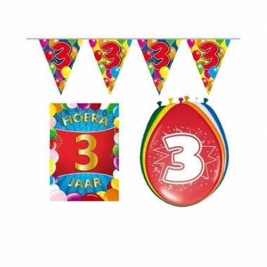 Leeftijd feestartikelen 3 jaar voordeel pakket- feestje!
