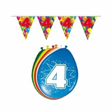 Leeftijd feestartikelen 4 jaar setje- feestje!