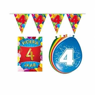 Leeftijd feestartikelen 4 jaar voordeel pakket- feestje!