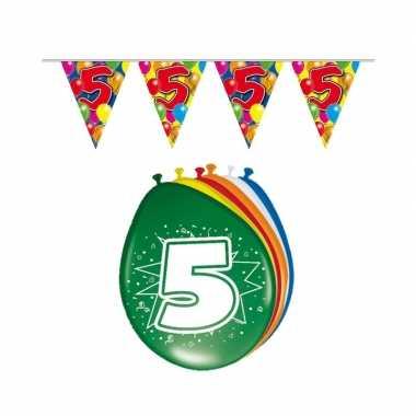 Leeftijd feestartikelen 5 jaar setje- feestje!