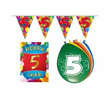 Leeftijd feestartikelen 5 jaar voordeel pakket- feestje!