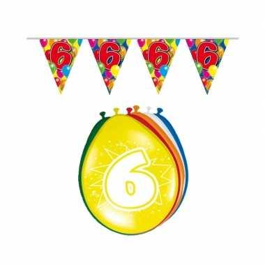 Leeftijd feestartikelen 6 jaar setje- feestje!