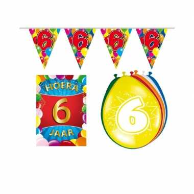 Leeftijd feestartikelen 6 jaar voordeel pakket- feestje!